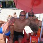 Kleine Erfrischung in der Strandbar