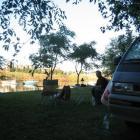 Necochea - Campen am Fluss