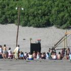 Kasperletheater am Strand von Valdez