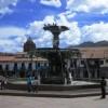 Der Brunnen am Plaza de Armas