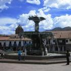 Der Brunnen am Plaza de Armas