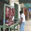 Fleischverkauf im Freien
