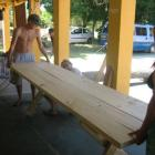 ... und dann baut uns Gustavo einen geilen Tisch!!!