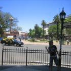 Katja vor der Casa Rosada!
