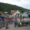 Fischerbuden in Barra da Lagoa