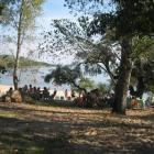 Mittagszeit, Essenszeit am strand von Las Canas