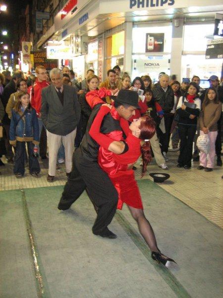 Tangoshow auf der Strasse