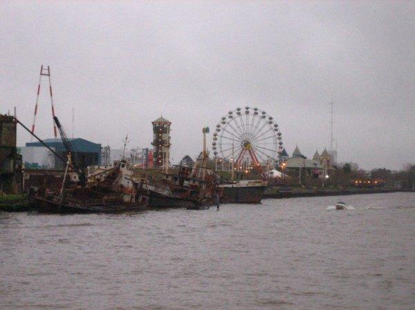 Lunapark vom Boot aus gesehen