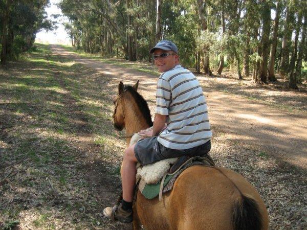 Erstes Mal auf einem Pferd