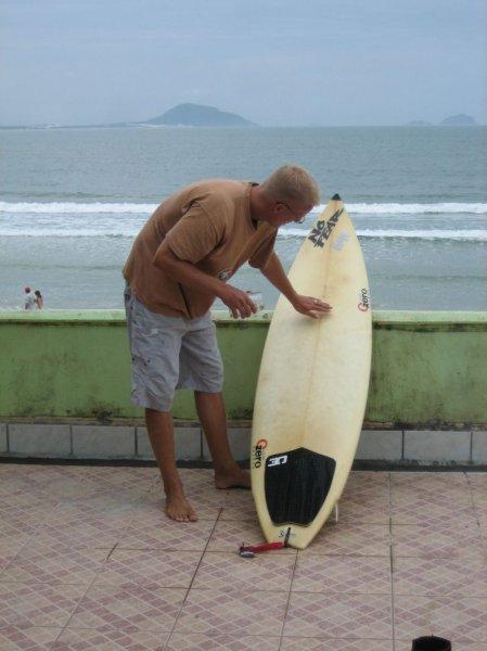 Bei der Boardpflege