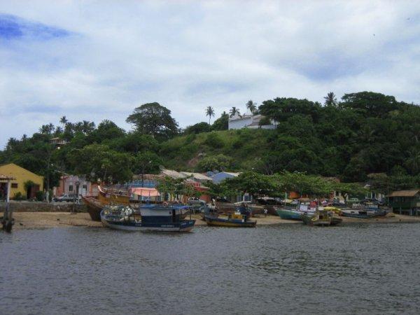 Santa Cruz Cabralia vom Fluss aus