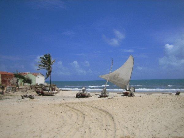 Jangadas - hier uebliche Fischerboote