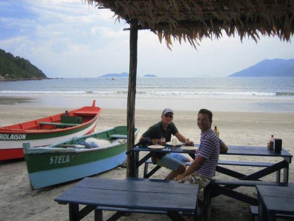 Fischrestaurant am Praia Pantano do Sul