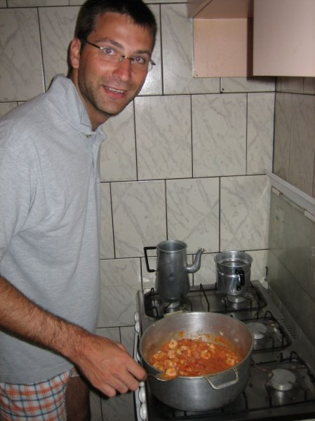 Koch Martin verwoehnt uns mal mit Shrimps...