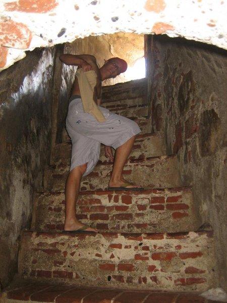 Im Inneren der Festung bei 35 Grad!