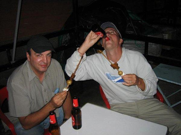 Bier und Spiesschen!