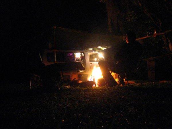 Lagerfeuer mit grillen, sind mittlerweile Profis!