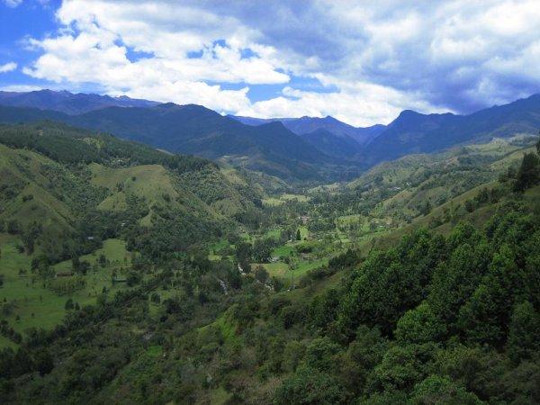 Unser Wandergebiet, der Anfang vom Valle de Cocora