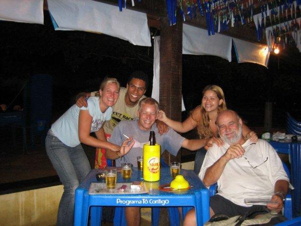 Mit Dieter beim feiern