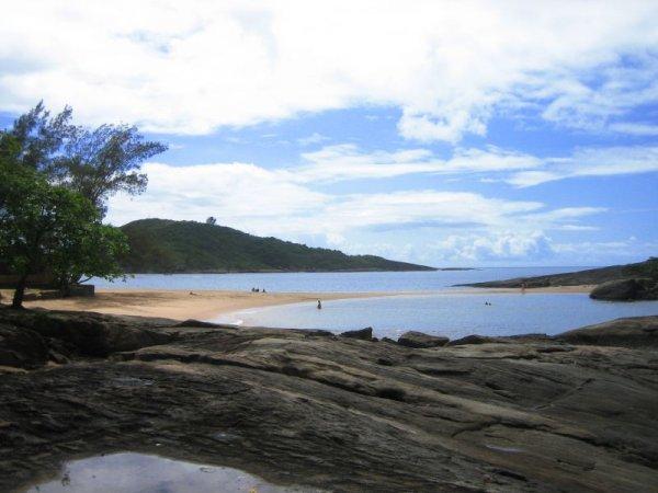 Sichelbucht an der Praia Setipa