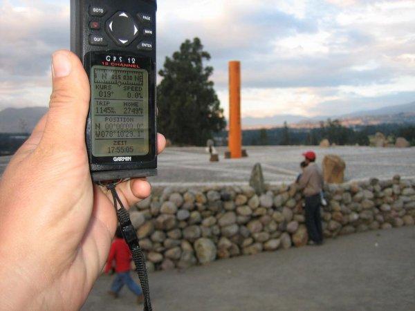 0 Grad, wir sind am Aequator!!