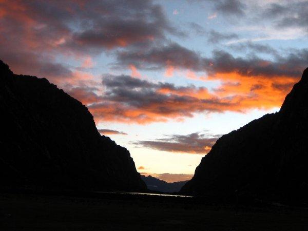 Toller Sonnenuntergang auf 4000m