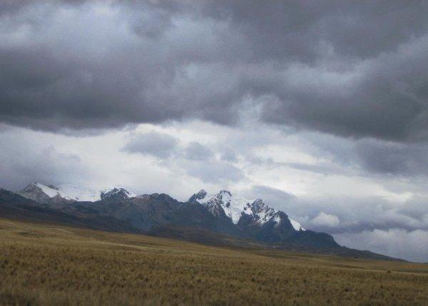 Die Auslaeufer der Cordillera Blanca...