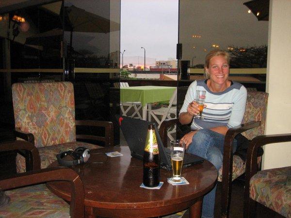 Im Club Germania in Lima fuehlen wir uns wohl