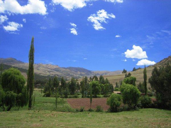 In der Hochebene von Cusco - endlich mal wieder gruen