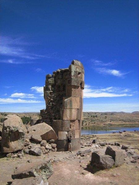 Die Grabtürme sind bis zu 12m hoch
