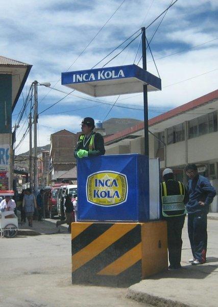 Verkehrspolizei in Peru