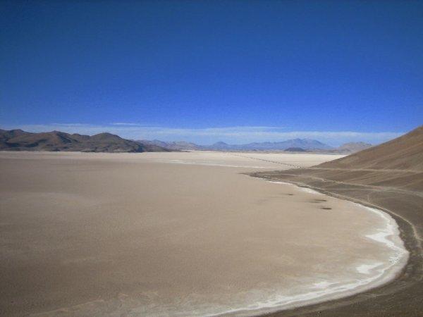 Chilenischer Salzsee auf 3500m, spektakulaer!