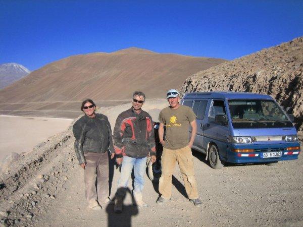 Ueberraschendes Wiedersehen mit Carol und Peter aus Canada mit ihrer BMW