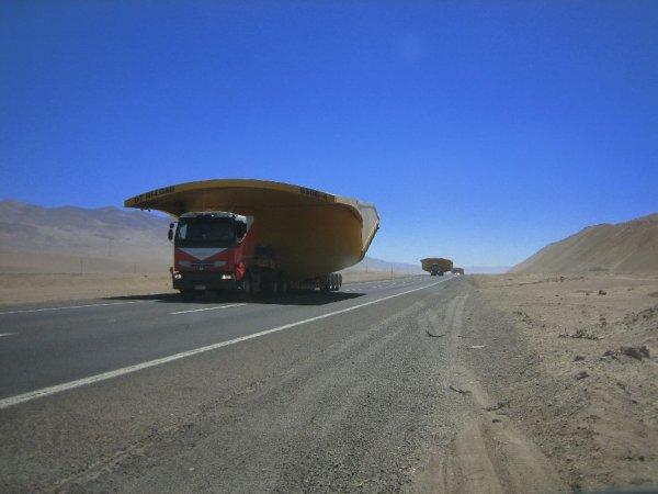 Nachschub fuer die Kupferminen im Norden von Chile