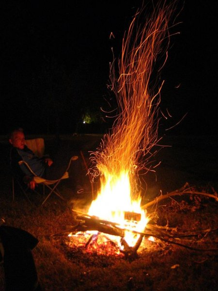 Lagerfeuer aufm Camping