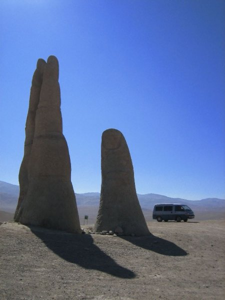 Mano de desierto bei Antofagasta