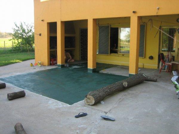 Wir legten der Quinta erst einmal eine neue Terrasse an!