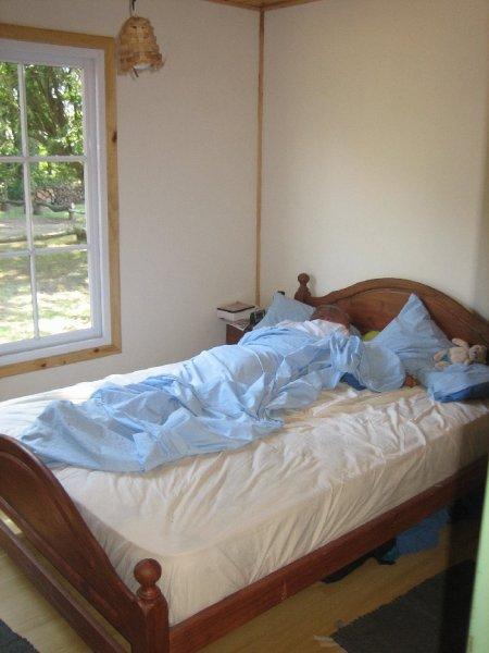 Das Ergebnis, unser Schlafzimmer fuer die naechsten 4 Wochen