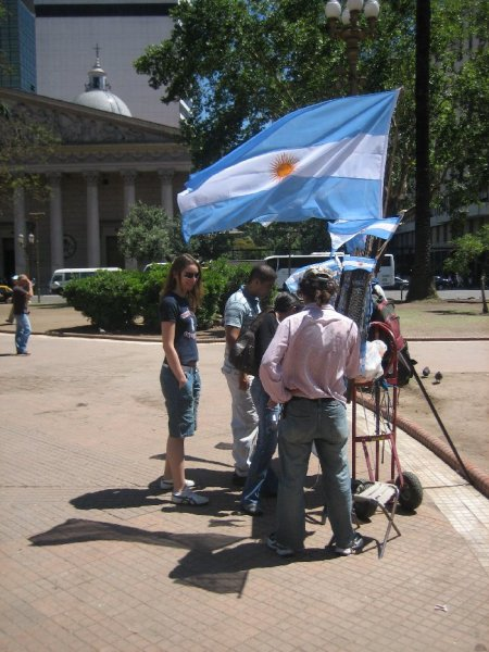 Katja in Buenos Aires, Plaza de Mayo