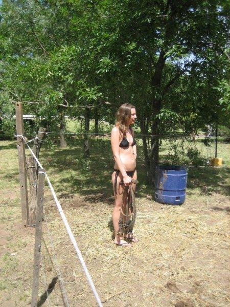 Cowgirl Frau Woeber!