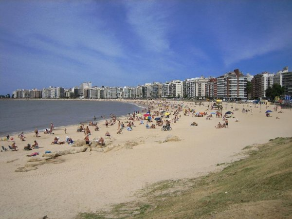 Der Stadtstrand in Montevideo