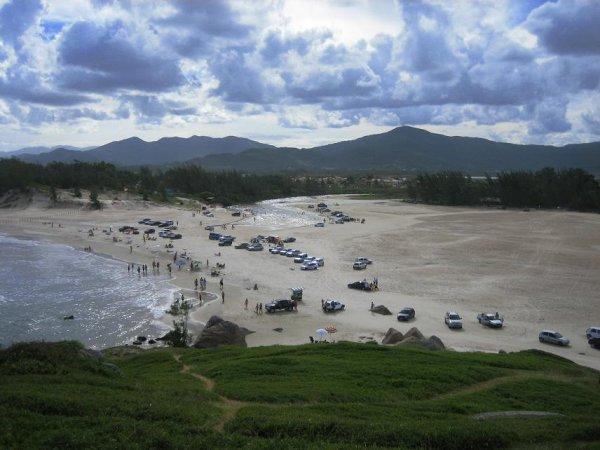 Praia Ferrugem von oben