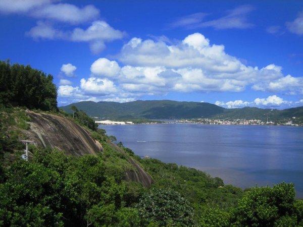 """Blick auf die Lagune \""""Lagoa de Concecao\"""""""