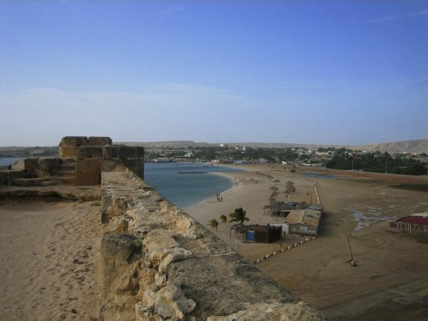 Blick von der Festung in Araya