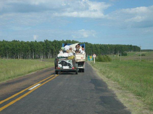 Campingurlauber in Uruguay