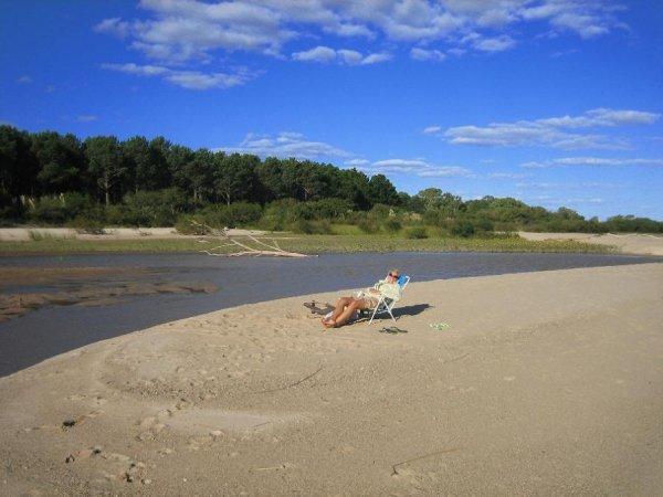 langes relaxen am Strand von St. Ana ...