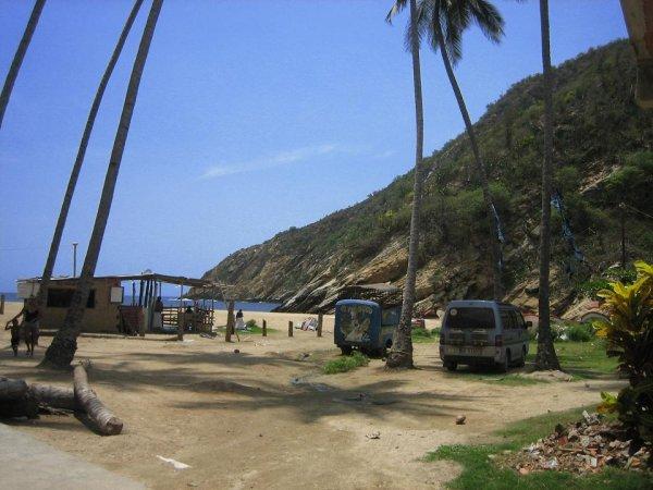 Pauli am Strand von Puerto Maya
