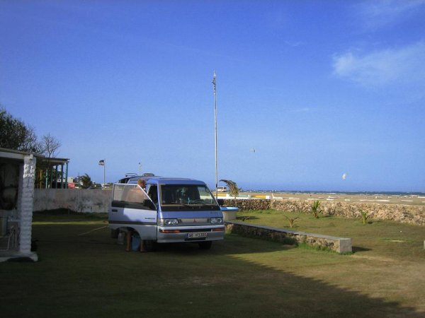 Campingplatz bei Archie, dem Surf-Opa