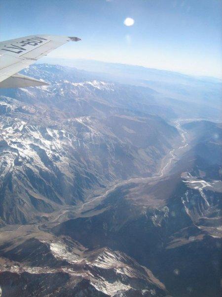 Heimflug nochmals ueber die Anden, 20 Stunden insgesamt