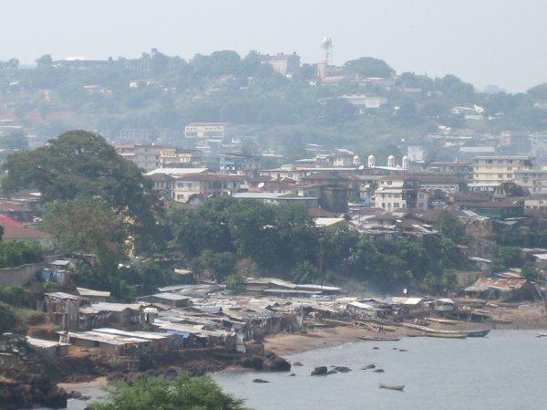 Favelas in Sierra Leone